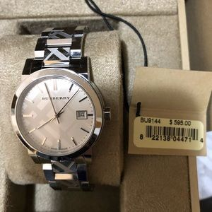 Authentic Burberry watch in silver